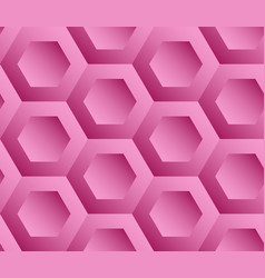 Abstract background pink hexagons vector