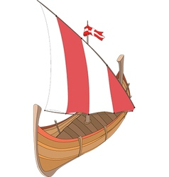 an old ship vector image
