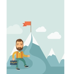 Businessman will climb to achieve success vector image