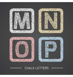 Chalk letters set vector image