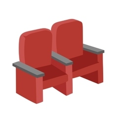 Cinema chairs vector image vector image