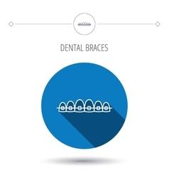 Dental braces icon teeth healthcare sign vector