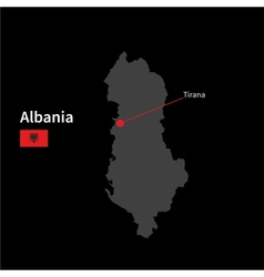 Detailed map of Albania and capital city Tirana vector image vector image
