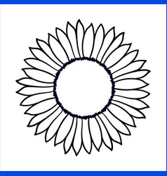 Doodle sunflower vector
