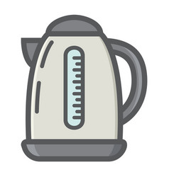electric kettle colorful line icon kitchen vector image
