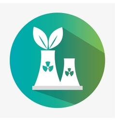 environmental factory ecology symbol with shadow vector image
