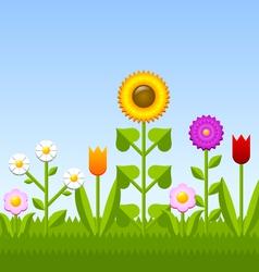 Flower garden vector
