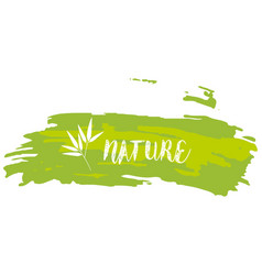 Font design for word nature vector