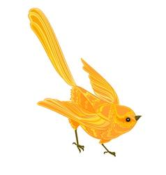 Gold-bird vector