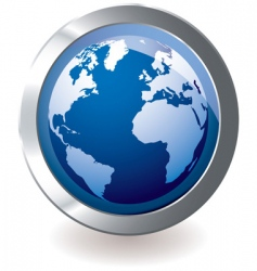 icon earth globe vector image vector image