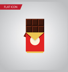 isolated shaped box flat icon chocolate bar vector image vector image