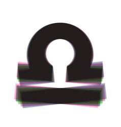 Libra sign colorful icon vector