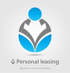 Personal leasing business icon vector image
