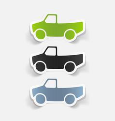 Realistic design element car pickup vector