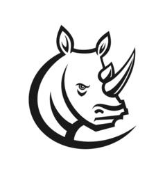 Rhinos head logo for sport club or team Animal vector image vector image