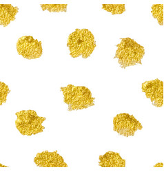 Seamless pattern with polka dots gold gold dots vector