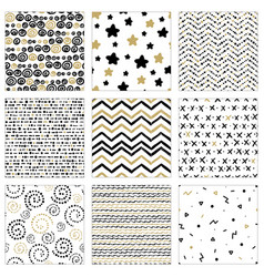 Set pattern with gold vector