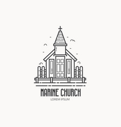 Stilted church logo vector