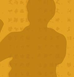 The man shows Kung Fu an original vector image