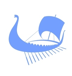 Viking ship icon longship isolated on white vector