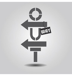 Wayout icon vector image vector image