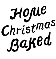 Home christmas baked vector