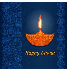 Greeting card for Diwali festival vector image
