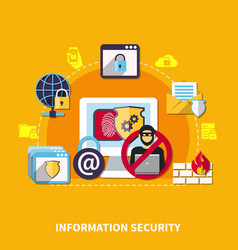 Information security concept vector