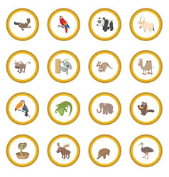 animal icon circle vector image