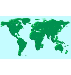 Extruded world map vector image