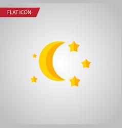 Isolated twilight flat icon bedtime vector
