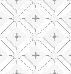 Gray lines with wavy squares seamless vector