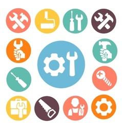 Tools isolated icons set vector