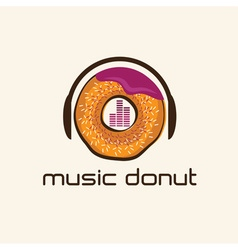 Music donut concept design template vector