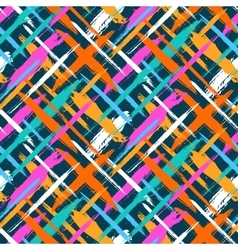 Pattern with diagonal stripes and crosses vector image