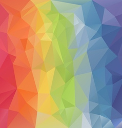 Pastel rainbow full spectrum polygon triangular vector