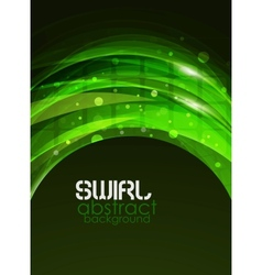 Green swirl abstract background vector
