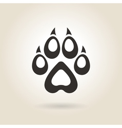 Icon dog trail vector
