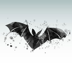 a flying bat vector image