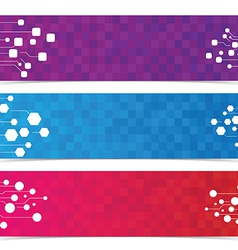 Abstract digital internet network graphic banner vector