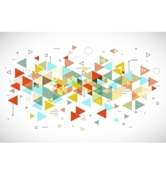 Abstract modern triangle background vector