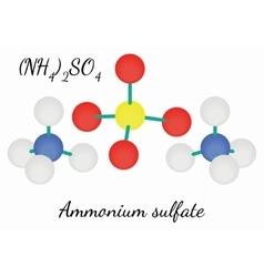 Ammonium sulfate N2H8SO4 molecule vector image vector image