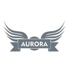 aurora wing logo simple gray style vector image vector image