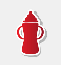 baby bottle sign new year reddish icon vector image vector image
