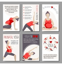 Banners for advertising pregnant yoga vector