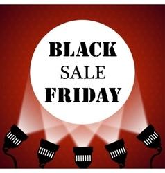 Black friday sale background projector spotlights vector