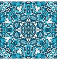 blue crystal kaleidoscope pattern vector image vector image