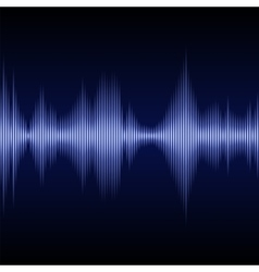 Blue Sound Wave Music Equalizer vector image