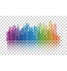 Cityscape colorful icon on transparent background vector image