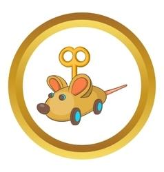 Clockwork mouse icon vector